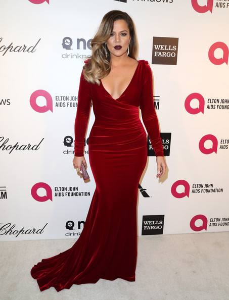 Khloe Kardashian at the 22nd Annual Elton John Aids Foundation's Oscars Viewing Party